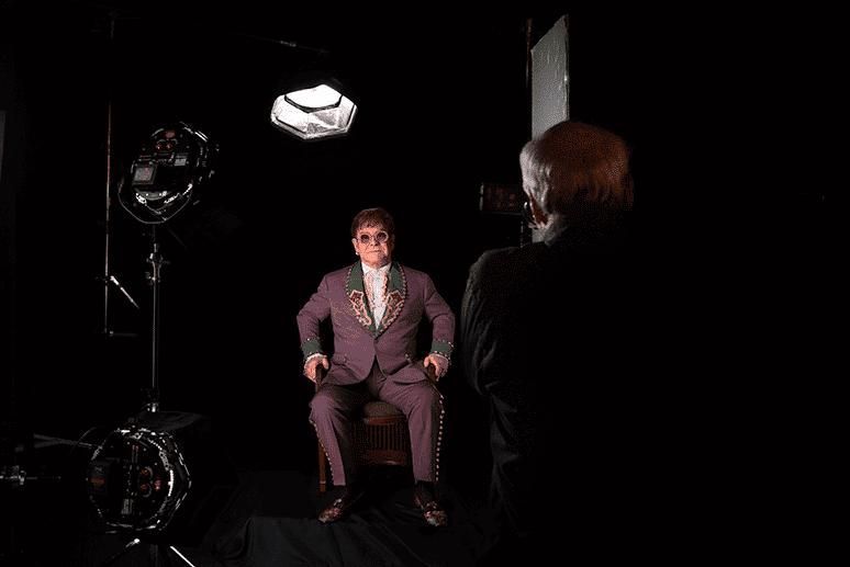 Elton John captured by award-winning photographer and Master of Light, Greg Gorman